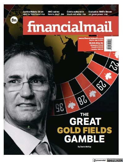 Front page of Financial Mail (South Africa) newspaper from South Africa