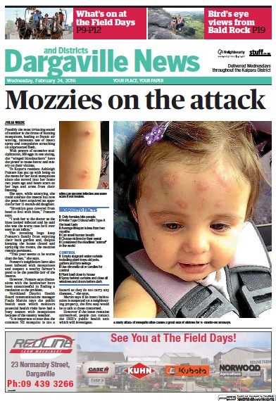 Front page of Dargaville News & District newspaper from New Zealand