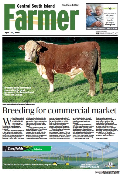 Front page of Central South Island Farmer newspaper from New Zealand