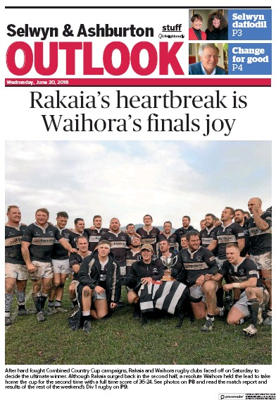 Front page of Central Canterbury News newspaper from New Zealand