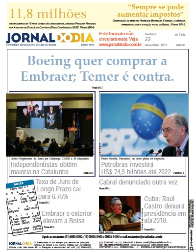 Front page of Jornaldodia newspaper from Brazil