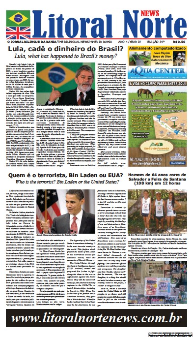 Front page of Litoral Norte News newspaper from Brazil