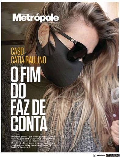 Front page of Jornal da Metropole newspaper from Brazil