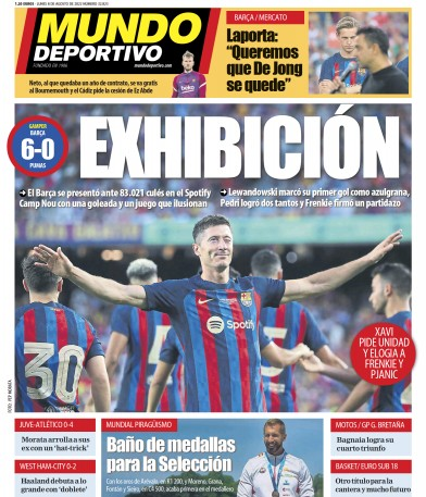 Front page of Mundo Deportivo newspaper from Spain