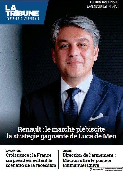 Front page of La Tribune newspaper from France