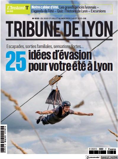 Front page of La Tribune de Lyon newspaper from France