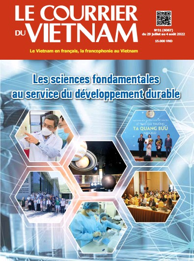Front page of Le Courrier du Vietnam newspaper from Vietnam