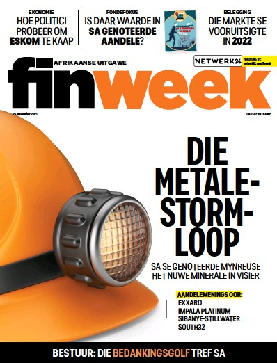 Front page of FIN Week Afrikaans edition newspaper from South Africa