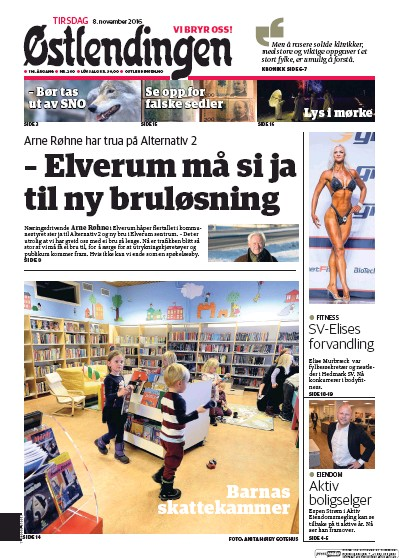 Front page of Ostlendingen newspaper from Norway