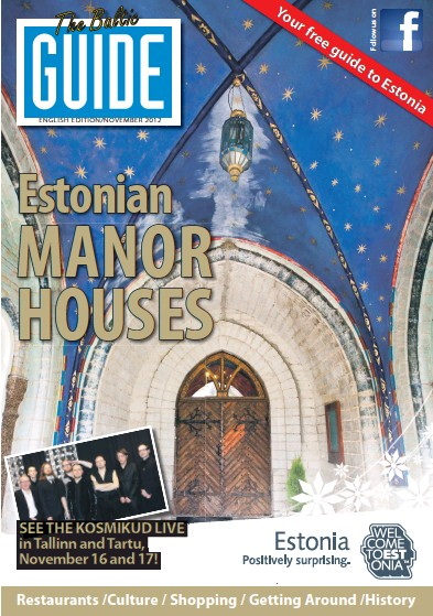Front page of The Baltic Guide (English) newspaper from Sweden