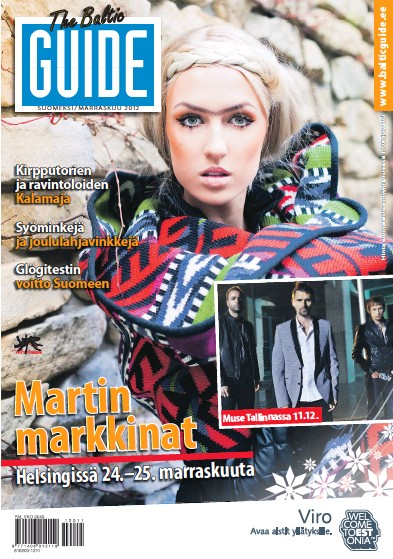 Front page of The Baltic Guide (Finnish) newspaper from Finland