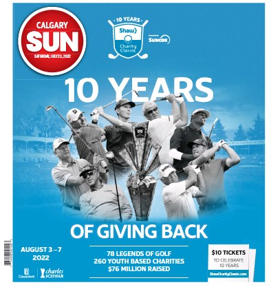 Front page of Calgary Sun newspaper from Canada