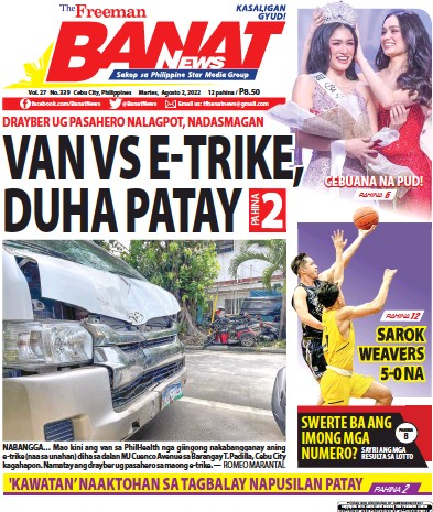 Front page of Banat News newspaper from Philippines