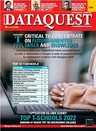 Front page of Dataquest newspaper from India