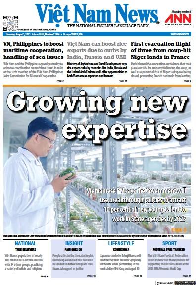 Front page of Viet Nam News newspaper from Vietnam