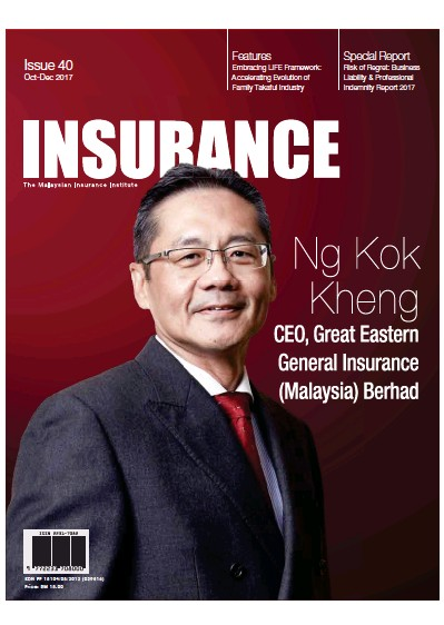 Front page of Insurance newspaper from Malaysia