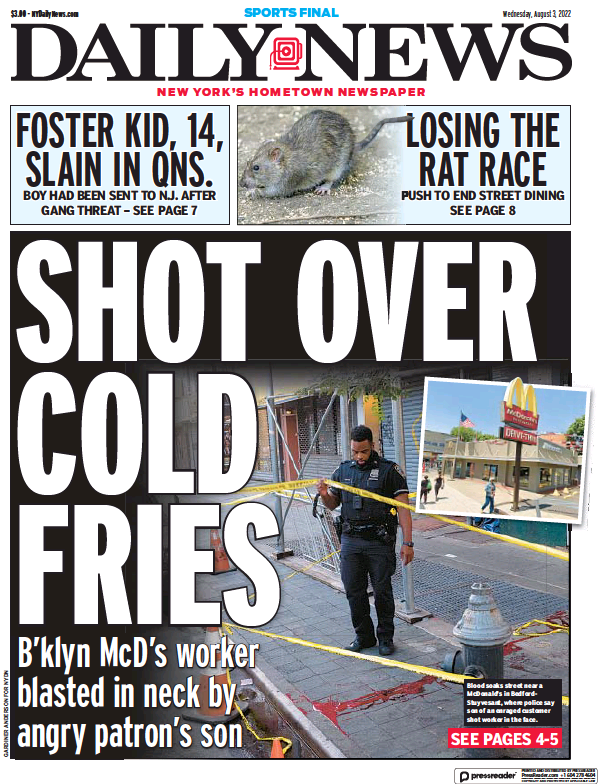 Read full digital edition of New York Daily News newspaper from USA