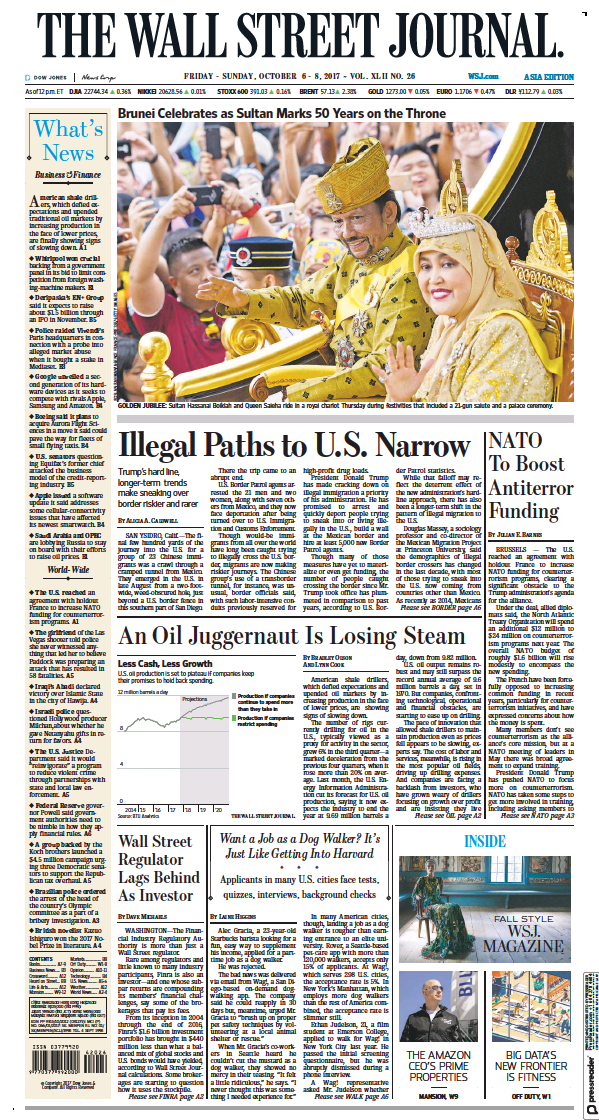 Read full digital edition of The Wall Street Journal Asia newspaper from USA