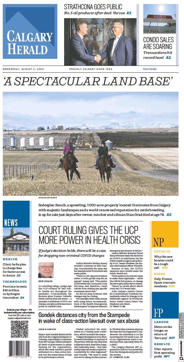 Read full digital edition of Calgary Herald newspaper from Canada