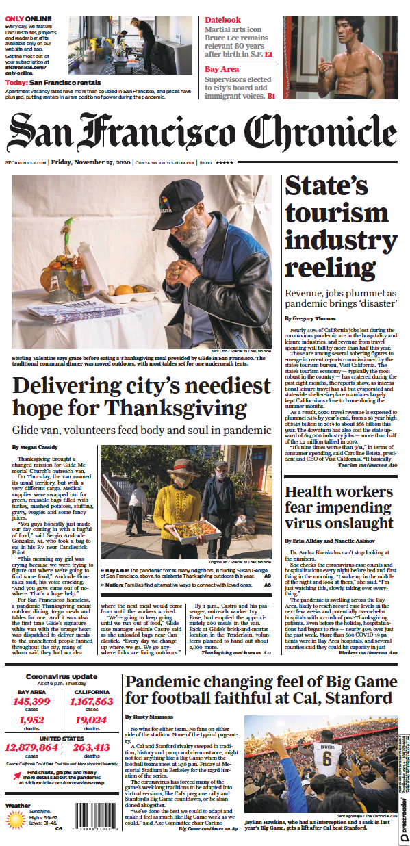 Read full digital edition of San Francisco Chronicle newspaper from USA