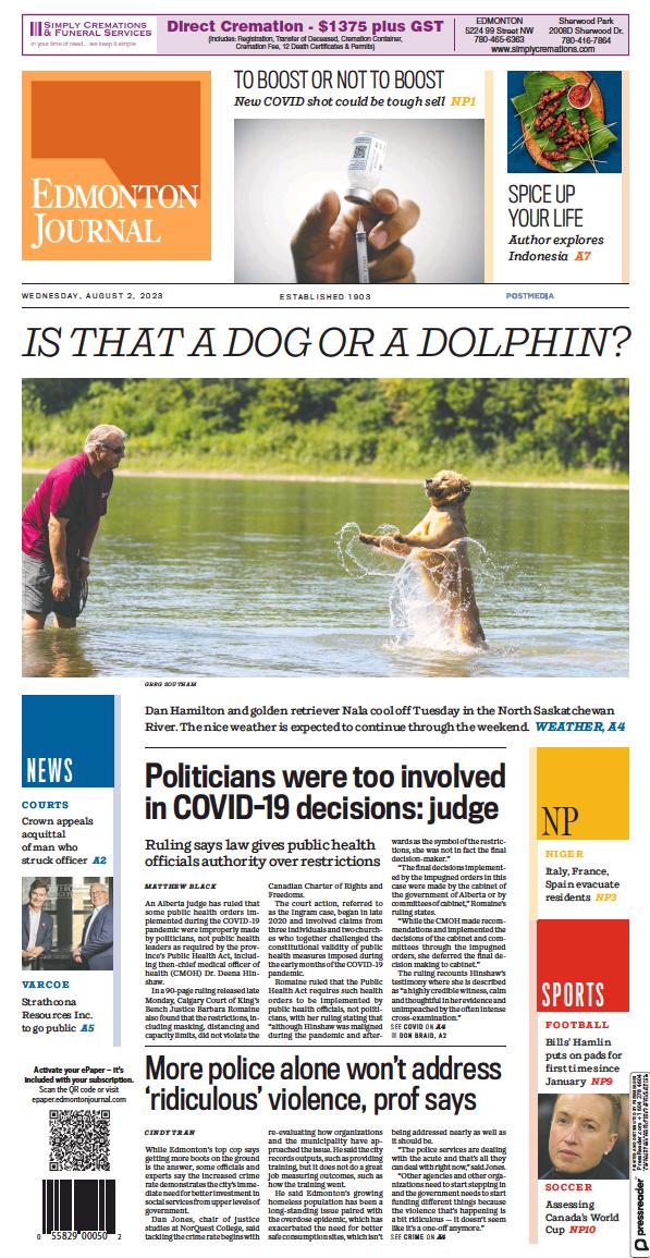 Read full digital edition of Edmonton Journal newspaper from Canada