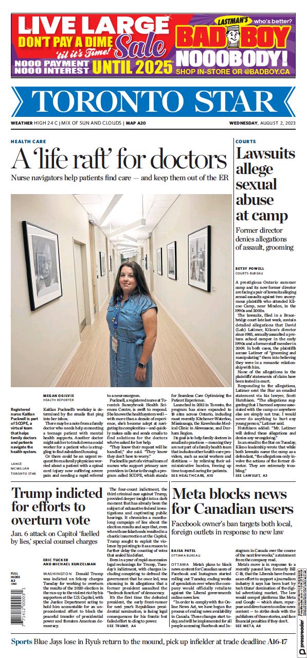 Read full digital edition of Toronto Star newspaper from Canada