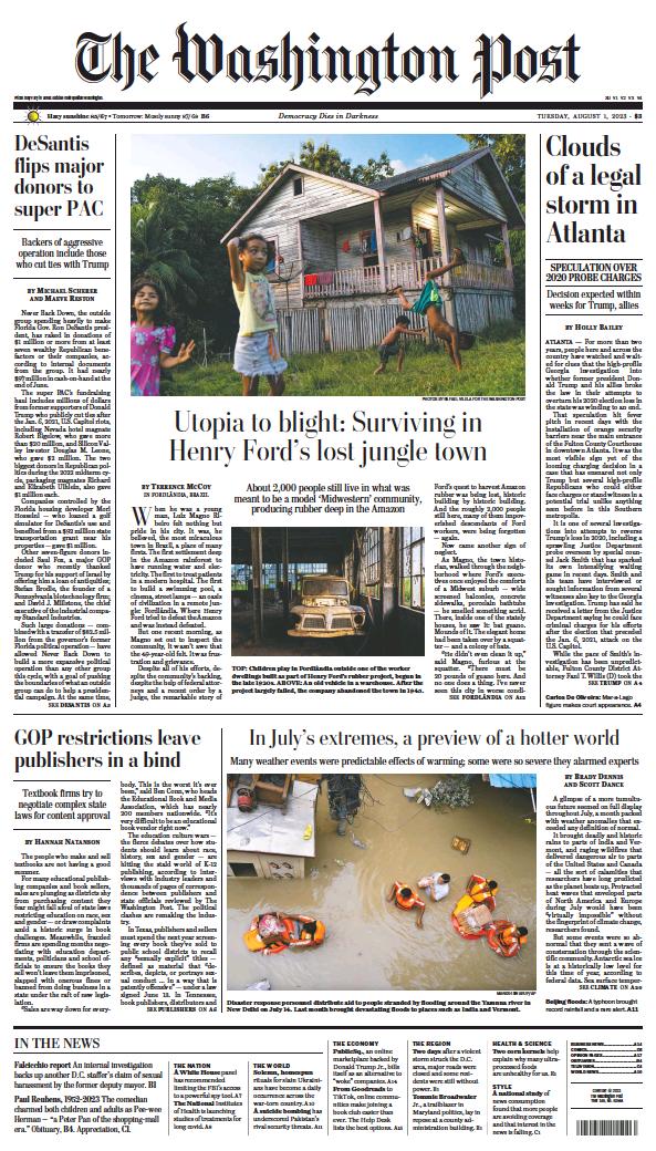Read full digital edition of Washington Post newspaper from USA
