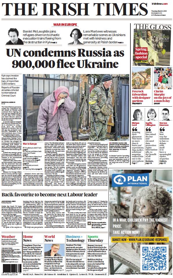 Read full digital edition of The Irish Times newspaper from Ireland