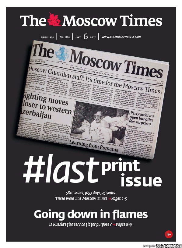 Read full digital edition of Moscow Times newspaper from Russia