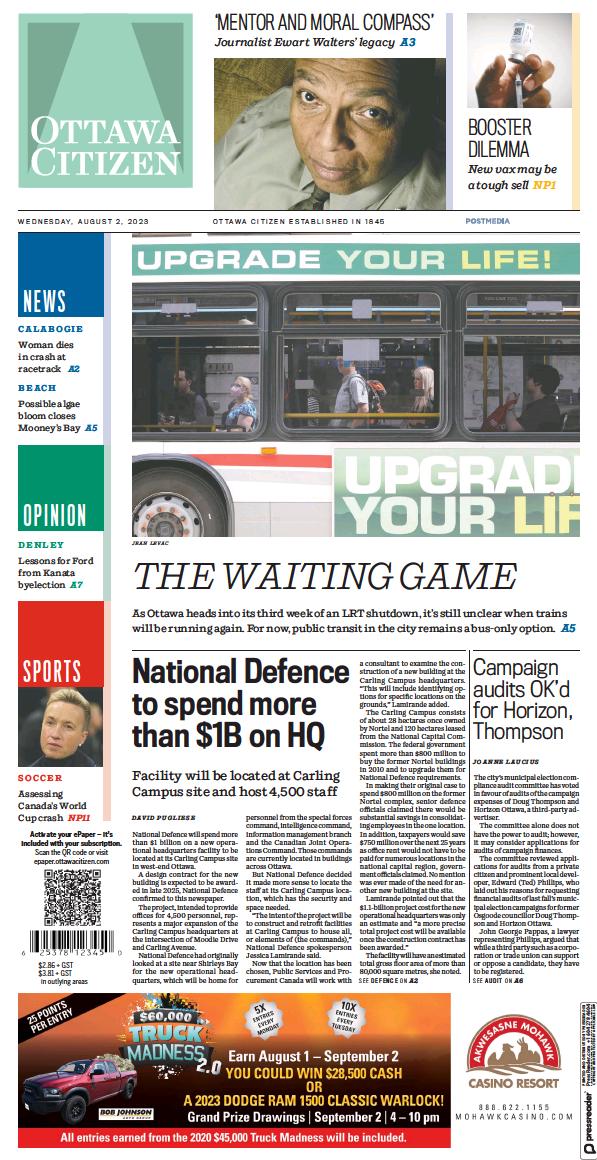 Read full digital edition of Ottawa Citizen newspaper from Canada