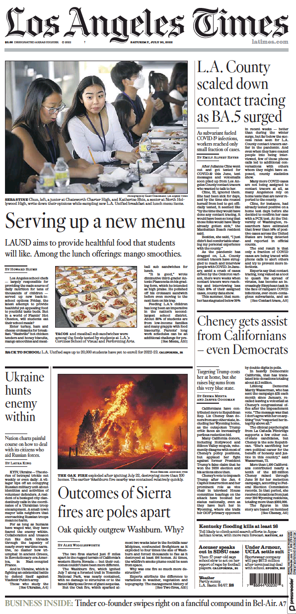 Read full digital edition of Los Angeles Times newspaper from USA
