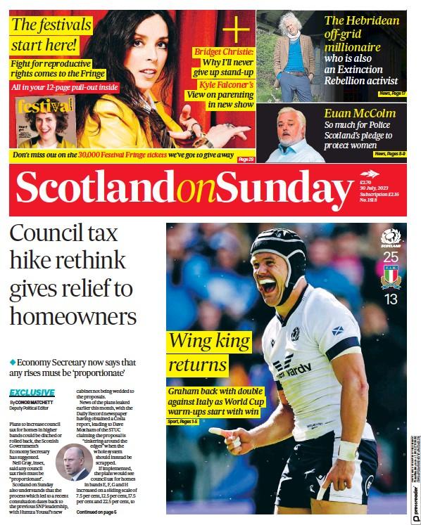 Read full digital edition of Scotland on Sunday newspaper from Scotland