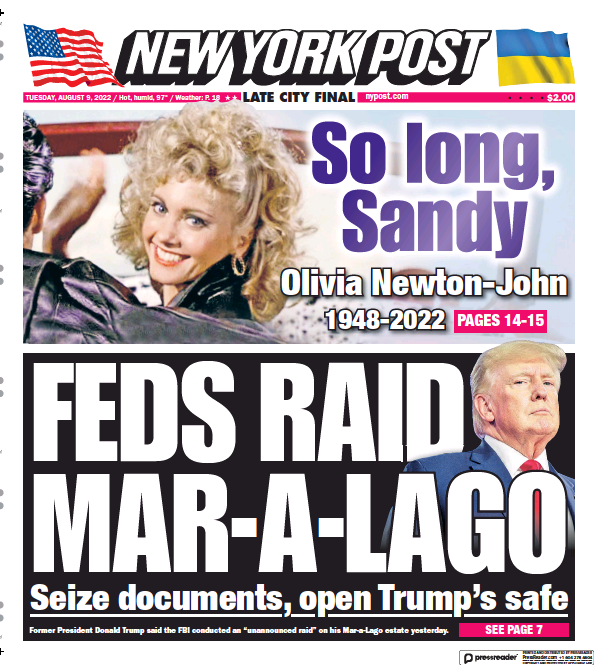 Read full digital edition of New York Post newspaper from USA