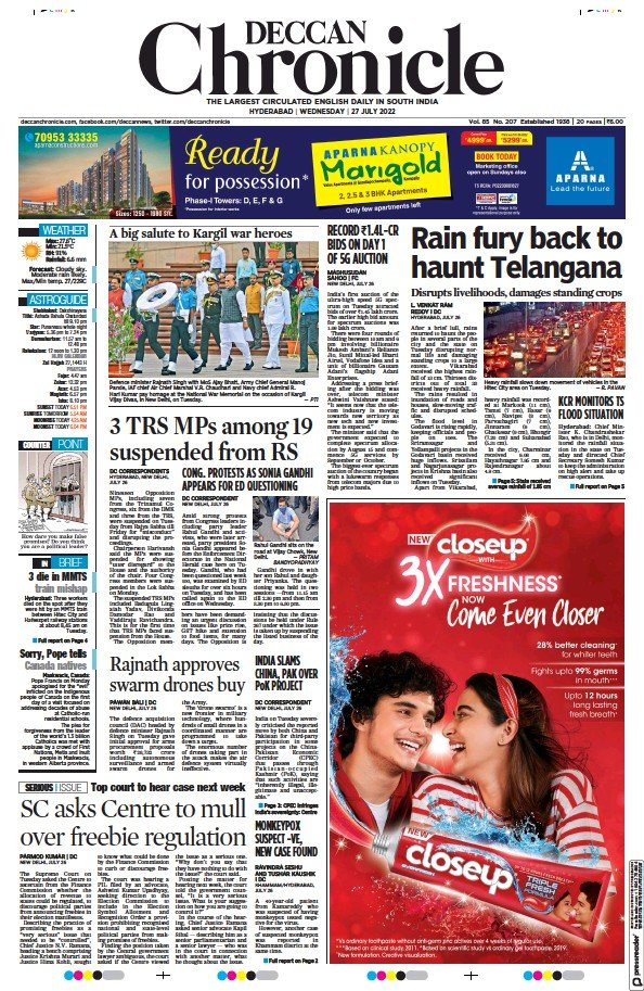 Read full digital edition of Deccan Chronicle newspaper from India