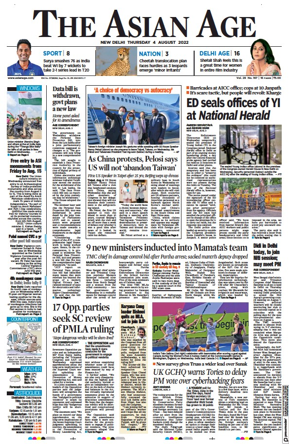 Read full digital edition of The Asian Age newspaper from India