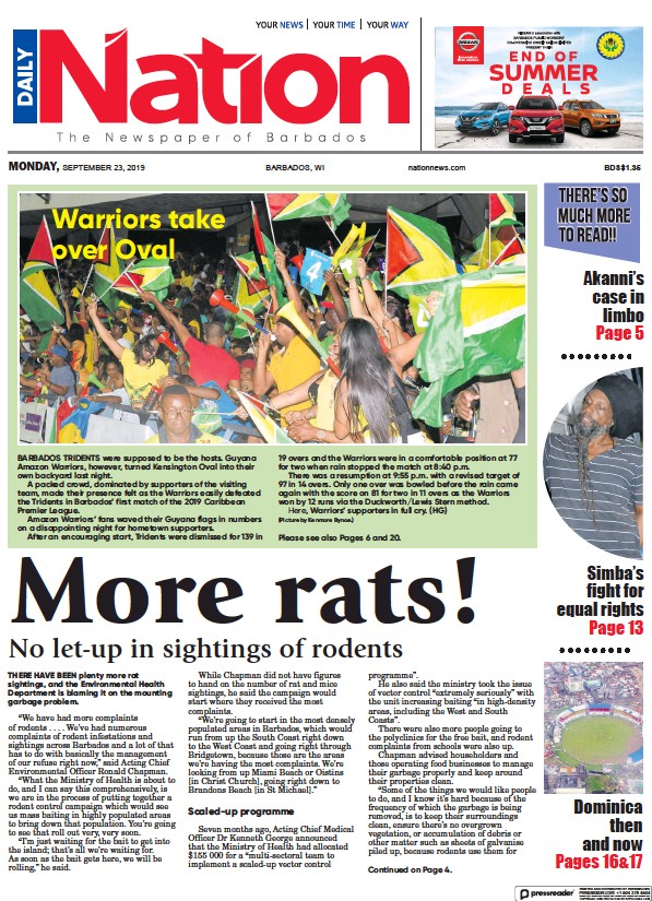 Read full digital edition of Daily Nation (Barbados) newspaper from Barbados