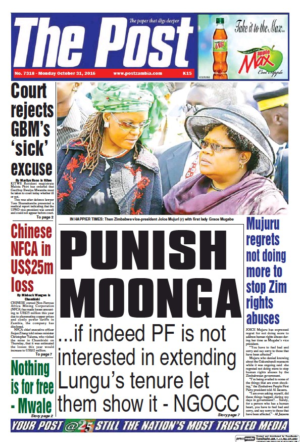 Read full digital edition of The Post (Zambia) newspaper from Zambia