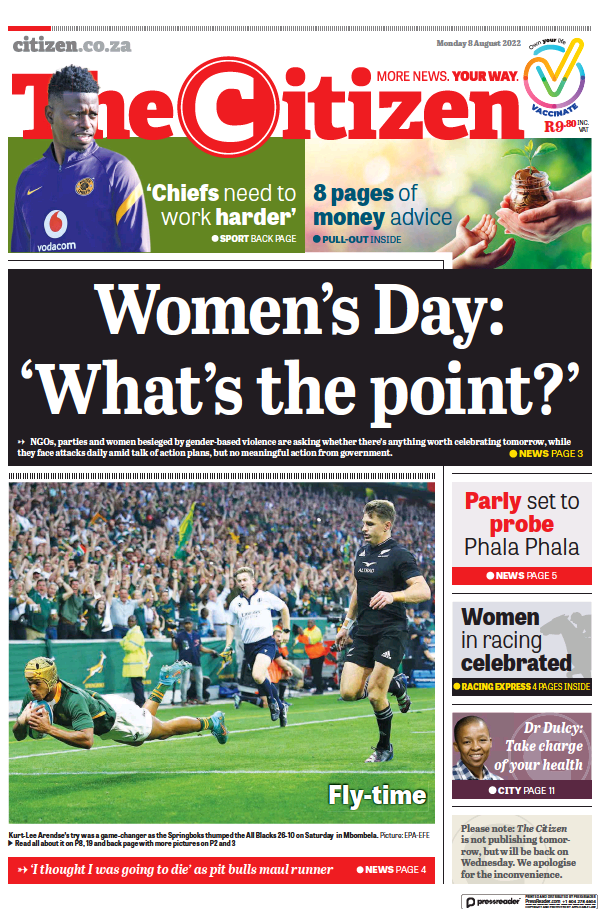 Read full digital edition of The Citizen newspaper from South Africa