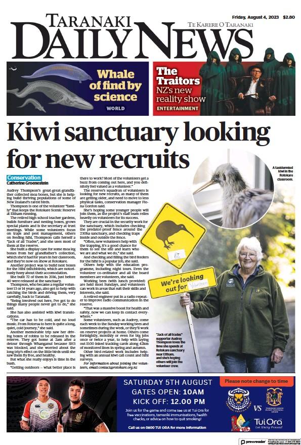Read full digital edition of Taranaki Daily News newspaper from New Zealand