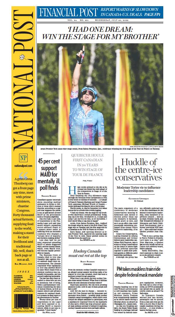 Read full digital edition of National Post (National Edition) newspaper from Canada