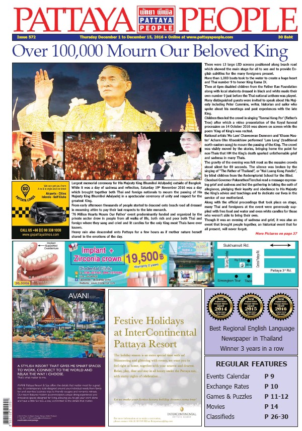 Read full digital edition of Pattaya People Weekly newspaper from Thailand