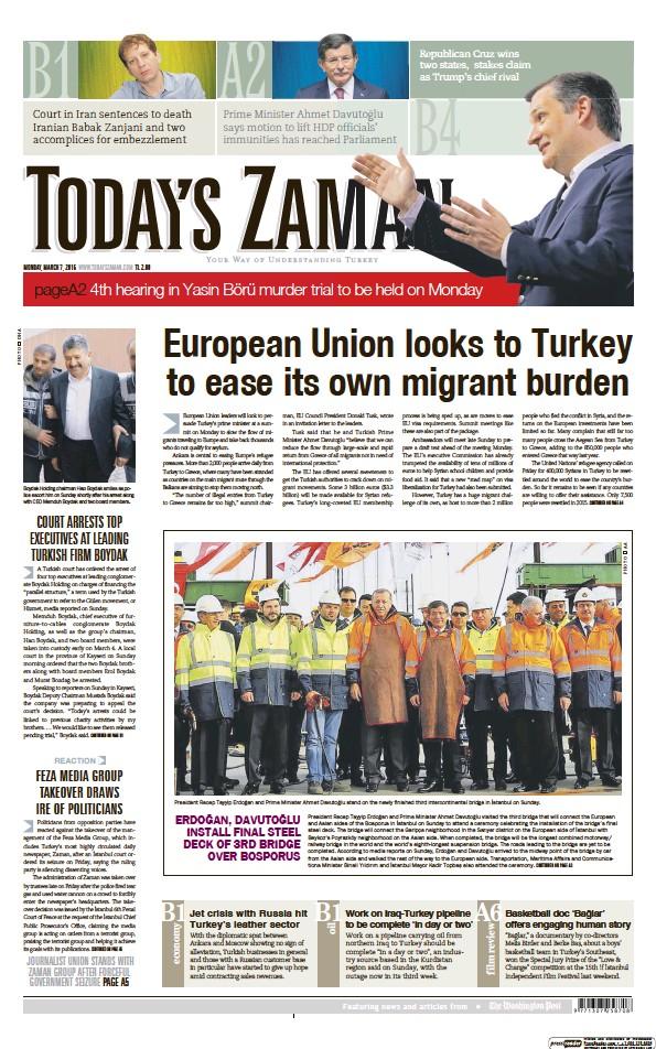 Read full digital edition of Today's Zaman newspaper from Turkey