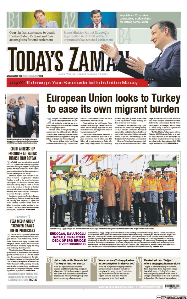 Read full digital edition of Today's Zaman newspaper from Turkey