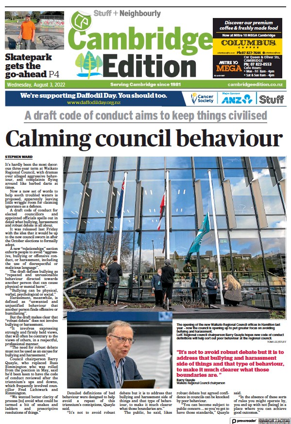 Read full digital edition of Cambridge Edition newspaper from New Zealand