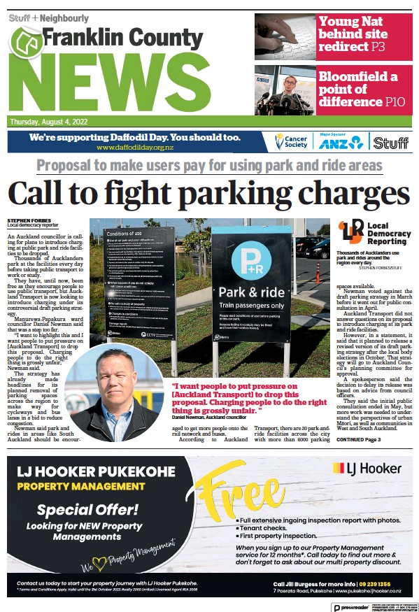 Read full digital edition of Franklin County News newspaper from New Zealand
