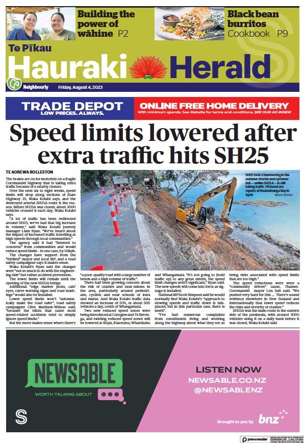 Read full digital edition of Hauraki Herald newspaper from New Zealand
