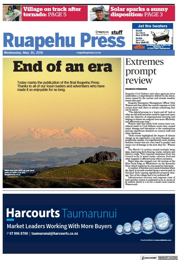 Read full digital edition of Ruapehu Press newspaper from New Zealand