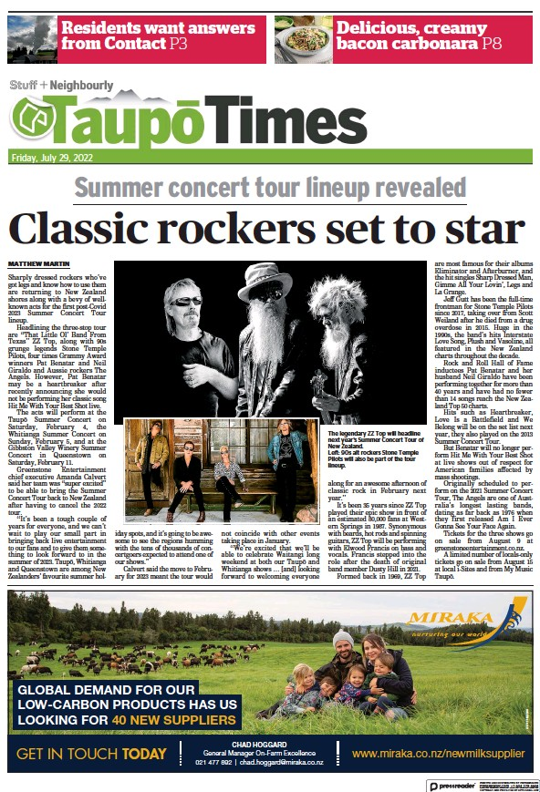 Read full digital edition of Taupo Times newspaper from New Zealand
