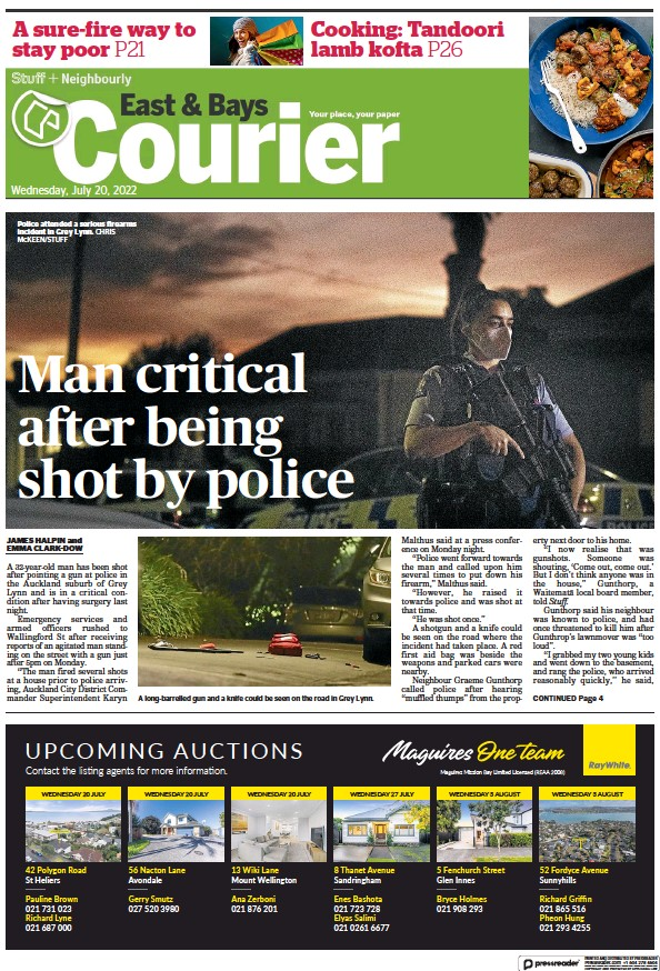 Read full digital edition of East and Bays Courier newspaper from New Zealand