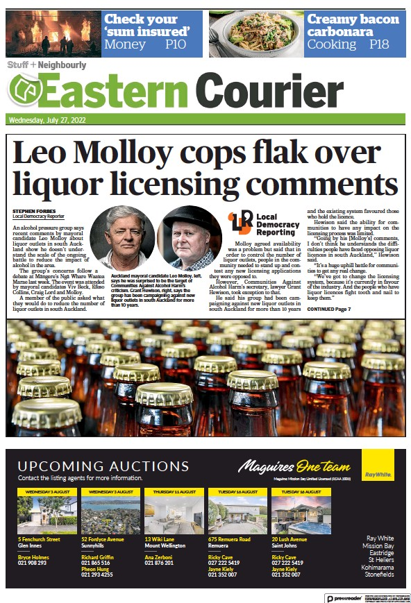 Read full digital edition of Eastern Courier newspaper from New Zealand